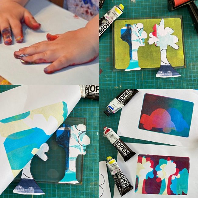 Art with Mollie Gel Printing Workshop for Children (at Crafty Nolo)