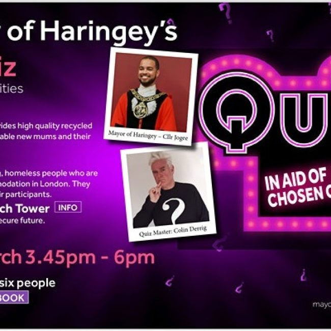 Let's Get Quizzical – The Mayor of Haringey's Quiz