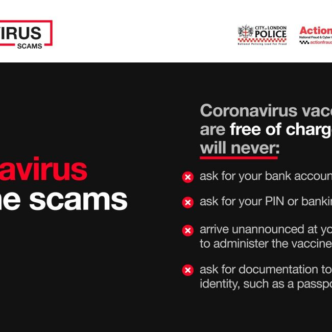 Criminals continue to take advantage of coronavirus vaccine roll-out as phishing email reports soar